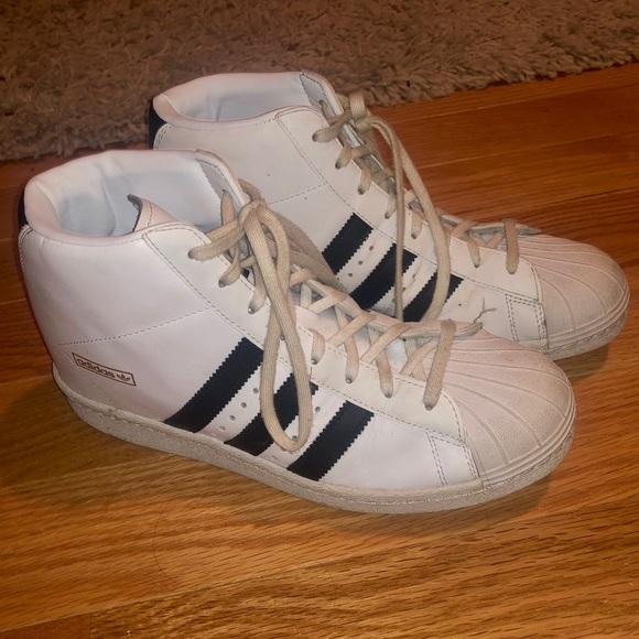 separation shoes 9a362 91dd7 Adidas Originals Superstar Concealed Heel High Top